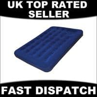 AIRBED DOUBLE FLOCK CAMPING GUEST AIR BED INFLATABLE MATTRESS INTEGRATED PUMP BN